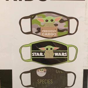 Mandalorian Baby Yoda Kids Facemasks